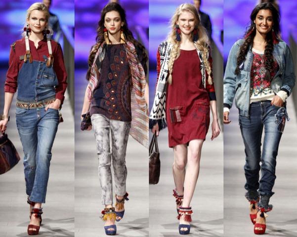 4d1ee257c14 Runway  Colección Desigual FW 2014 en 080 Barcelona Fashion – La guía del  calzado en México
