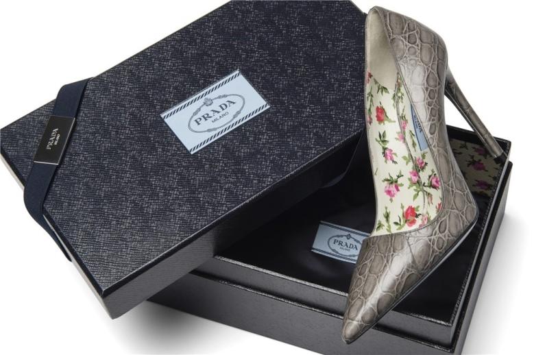 Detalle del zapato personalizado de Prada cuyo plazo de entrega estimado es de 60 días.