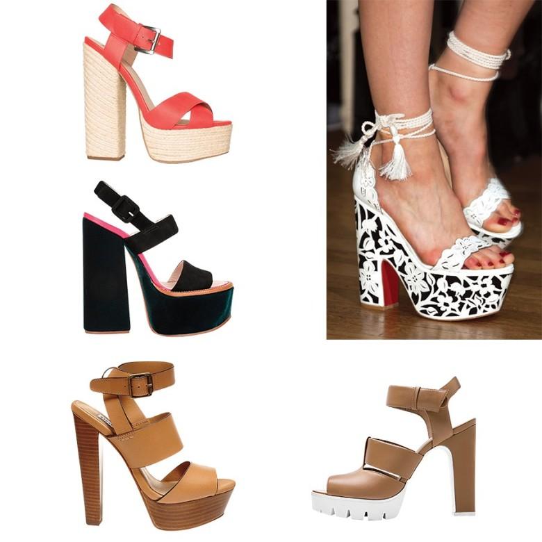 Opta por unas en black & white, si vas a usarlas con un look más elegante. (Studio F; Victoria Beckham; Steve Madden; Brantano)