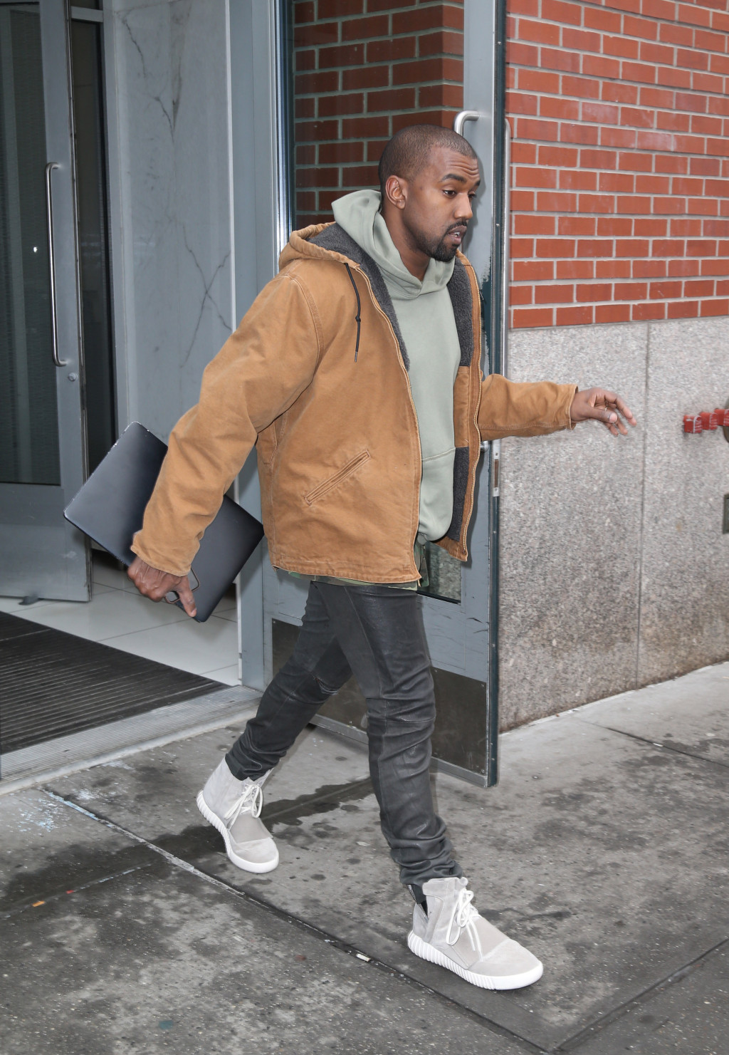 Kanye West seen in NYC
